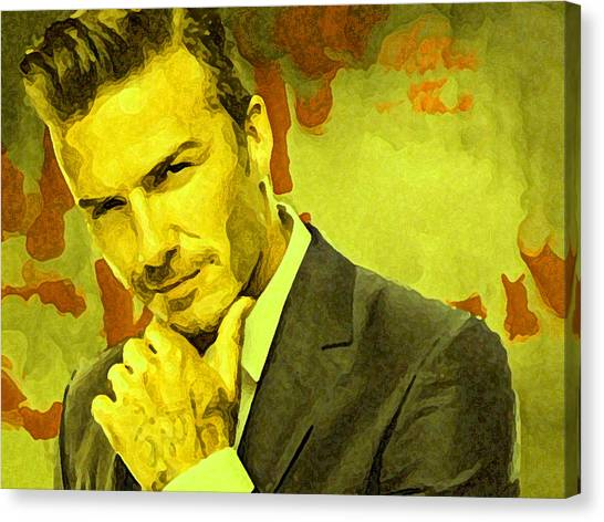 David Beckham Canvas Print - David Beckham Painting by Parvez Sayed