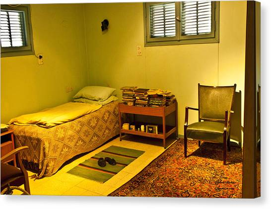 David Ben-gurion - His Bedroom Canvas Print by Itzhak Richter