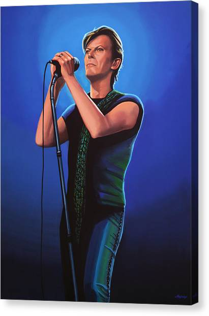 David Bowie Canvas Print - David Bowie 2 Painting by Paul Meijering