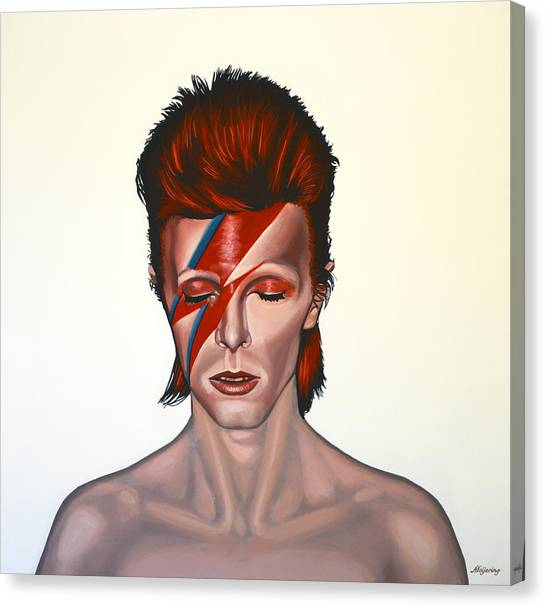 Streets Canvas Print - David Bowie Aladdin Sane by Paul Meijering