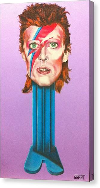 David Bowie Canvas Print by Brent Andrew Doty