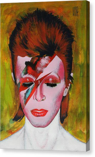 David Bowie Canvas Print - David Bowie by Dan Haraga