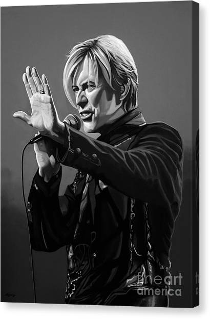 David Bowie Canvas Print - David Bowie In Concert by Meijering Manupix