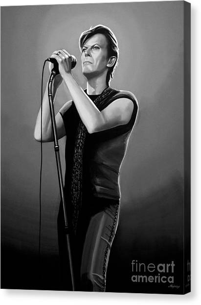 David Canvas Print - David Bowie by Meijering Manupix