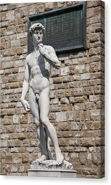 The Uffizi Gallery Canvas Print - David By Michelangelo by Melany Sarafis