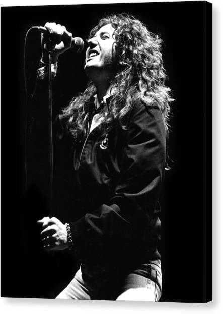 Whitesnake Canvas Print - David Coverdale by Sue Arber