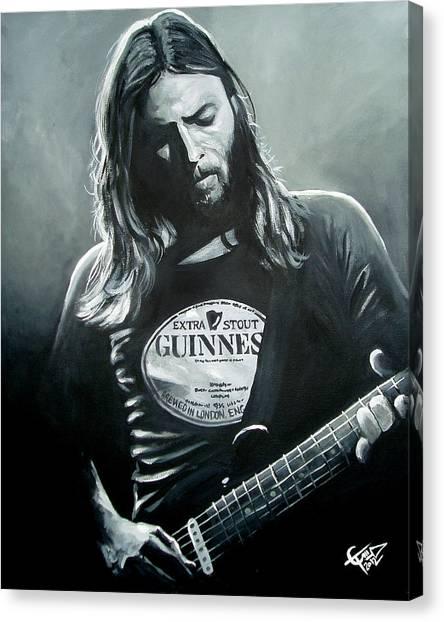 Pink Floyd Canvas Print - David Gilmour by Tom Carlton
