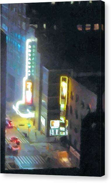 David Letterman Show Theater On Broadway E5 Canvas Print by Bud Anderson