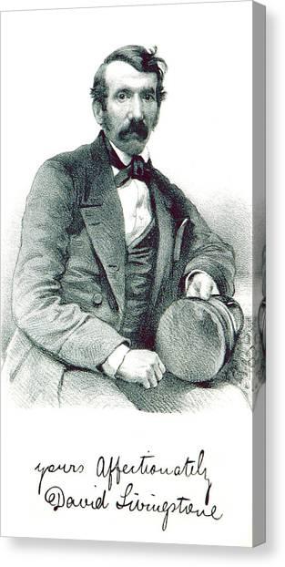 Notable Canvas Print - David Livingstone, Scottish Explorer by British Library