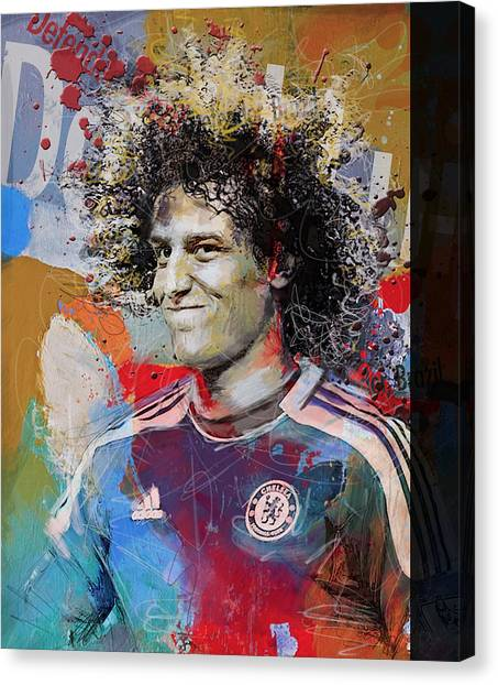 Real Madrid Canvas Print - David Luiz - B by Corporate Art Task Force