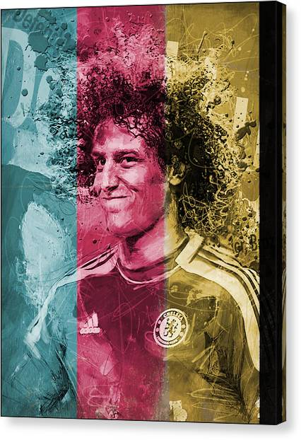 Real Madrid Canvas Print - David Luiz - C by Corporate Art Task Force