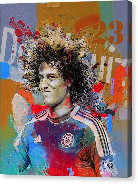Real Madrid Canvas Print - David Luiz by Corporate Art Task Force