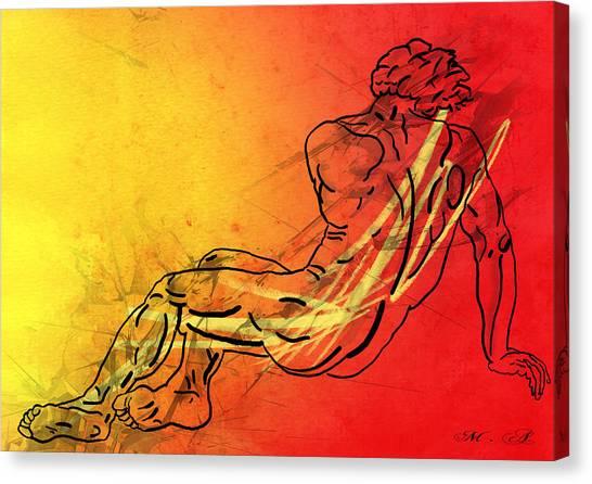 Abstract Nude Canvas Print - David by Mark Ashkenazi