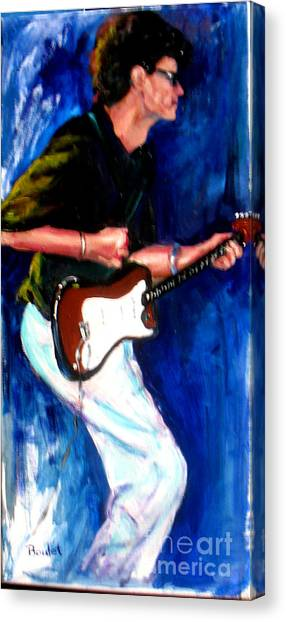 David On Guitar Canvas Print