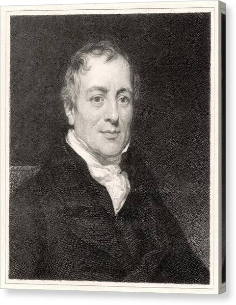 David Ricardo  Economist        Date Canvas Print by Mary Evans Picture Library