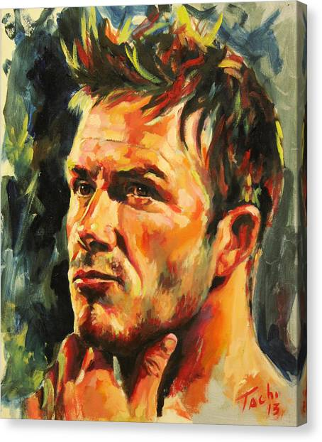 David Beckham Canvas Print - David by Tachi Pintor