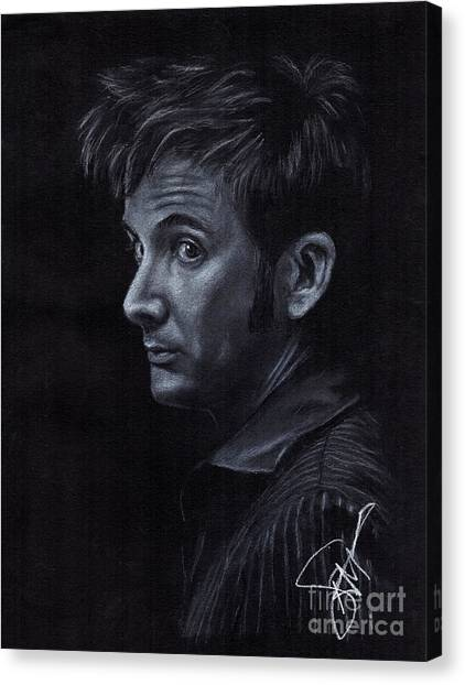 David Tennant 3 Canvas Print by Rosalinda Markle