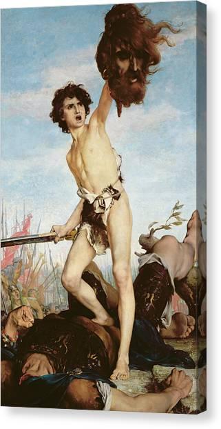 Old Testament Canvas Print - David Victorious Over Goliath by Gabriel Joseph Marie Augustin Ferrier