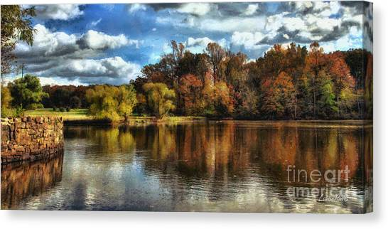 Davidson Mill Pond 2 Canvas Print by Louise Reeves