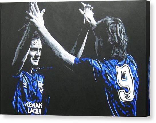 Davie Cooper - Ally Mccoist - Glasgow Rangers Fc Canvas Print