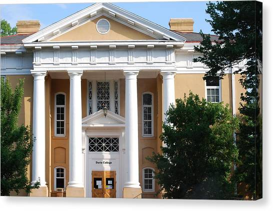 University Of South Carolina Canvas Print - Davis College University Of South Carolina by William Copeland