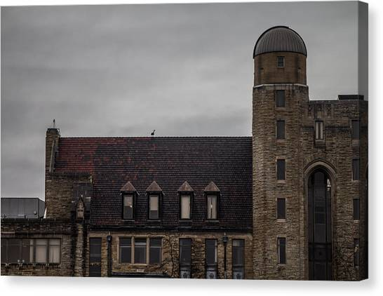 Northern Illinois University Canvas Print - Davis Hall Observatory by Jason Borg