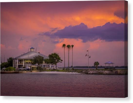 Calm Down Canvas Print - Davis Island Yacht Club by Marvin Spates