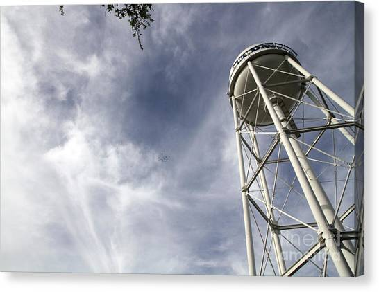 Uc Davis Canvas Print - Davis Water Tower by Juan Romagosa