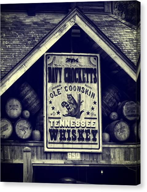 Gatlinburg Tennessee Canvas Print - Davy Crocketts Tennessee Whiskey by Dan Sproul