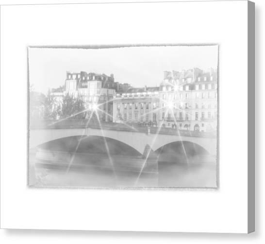 Dawn Along The Seine Canvas Print