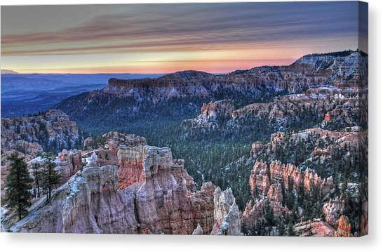 Dawn At Bryce Canyon Canvas Print