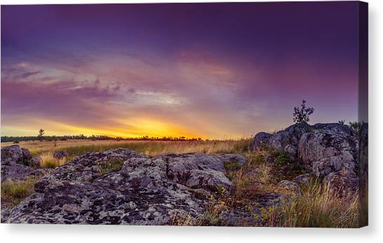 Dawn At Steppe Canvas Print