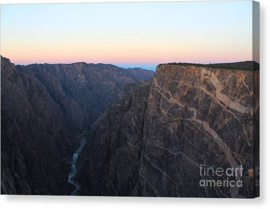 Dawn At The Black Canyon Canvas Print