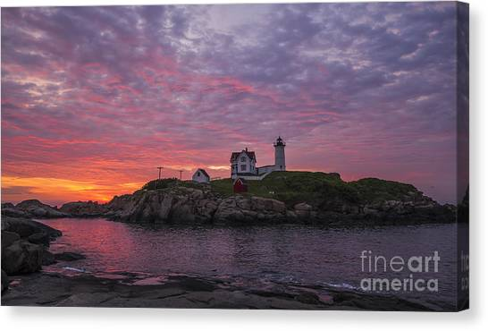 Dawn At The Nubble Canvas Print