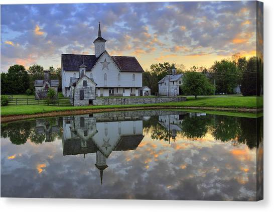 Dawn At The Star Barn Canvas Print