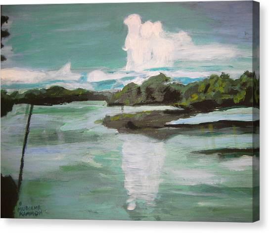 Dawn Breaks On Jong River Mattru Sierra Leone Canvas Print