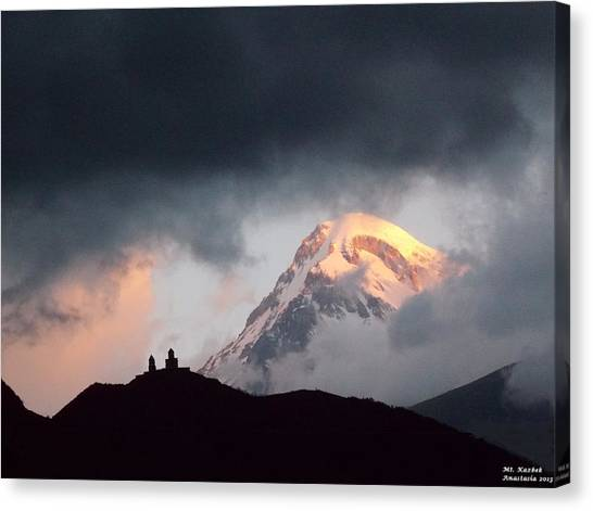 Dawn Caressing Mt Kazbek 2 Canvas Print