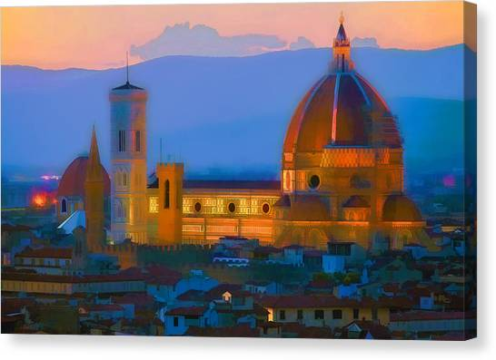 Dawn In Florence Canvas Print