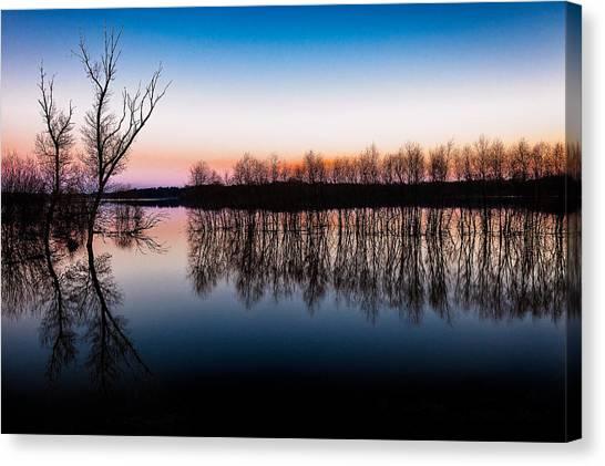 Dawn In The Flood Canvas Print