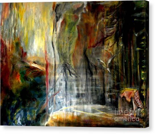 Dawn In The Rocks Canvas Print