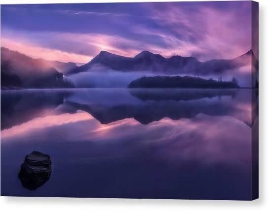 Swamps Canvas Print - Dawn In Urkulu by Fran Osuna