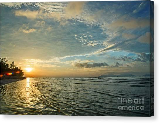 Dawn Island Canvas Print