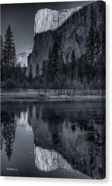 El Capitan Canvas Print - Dawn Light On El Capitan by Bill Roberts