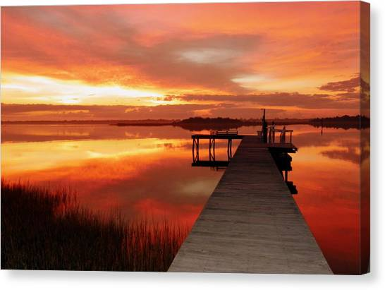 Wetlands Canvas Print - Dawn Of New Year by Karen Wiles