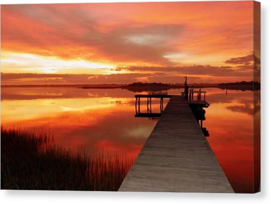 North Carolina Canvas Print - Dawn Of New Year by Karen Wiles