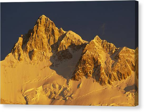Kangchenjunga Canvas Print - Dawn On Kangchenjunga Talung Face India by Colin Monteath