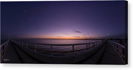 Dawn On The Jetty Canvas Print by Andrew Dickman