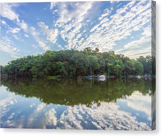 Dawn On The Magothy River Canvas Print