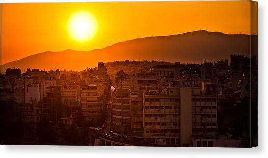 Dawn Over Athens Canvas Print