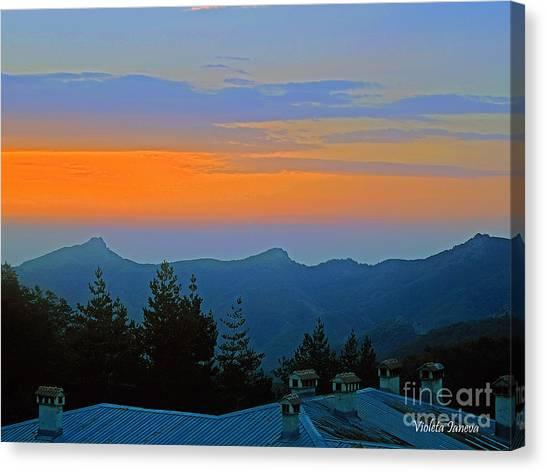 Violeta Canvas Print - Dawn Over Cross Forest by Violeta Ianeva